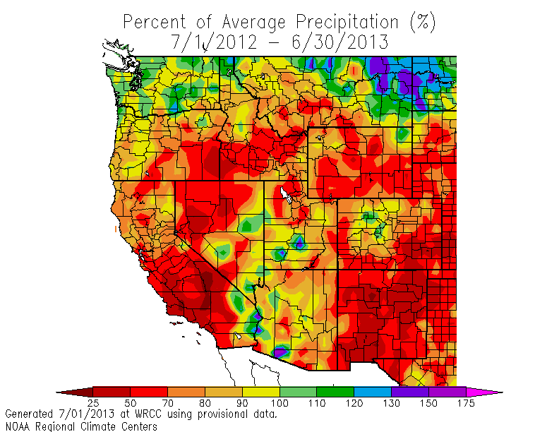 Saturday November Southern California Weather Notes - Annual precipitation map us