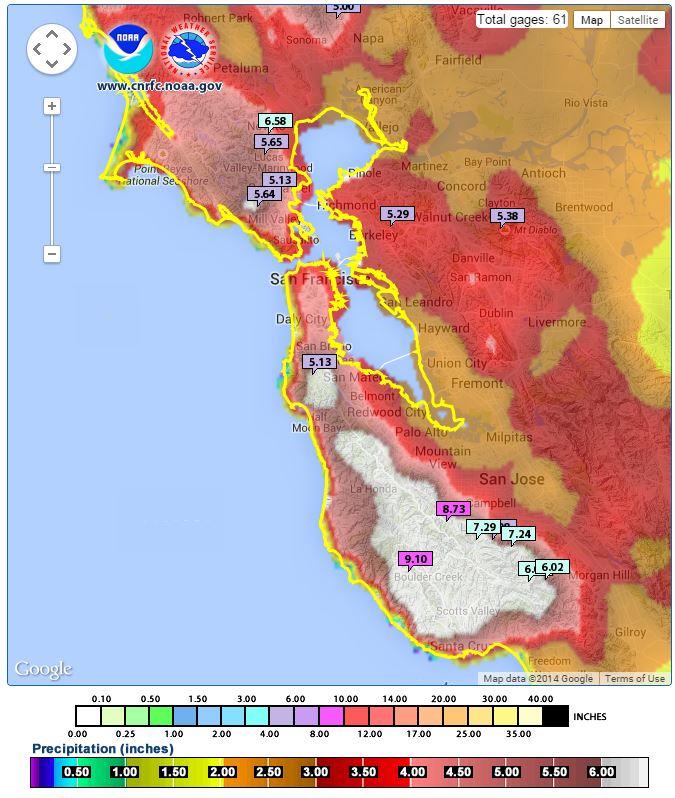 San Francisco Temperature Map | Michigan Map